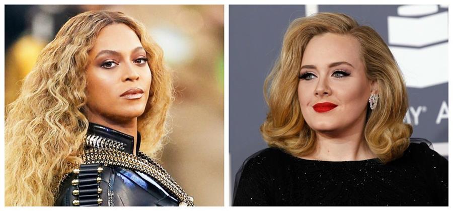 Beyoncé está postulada en nueve categorías, mientras que Adele va por cinco premios. Ambas compiten en las categorías principales. (Foto Prensa Libre: Hemeroteca PL)