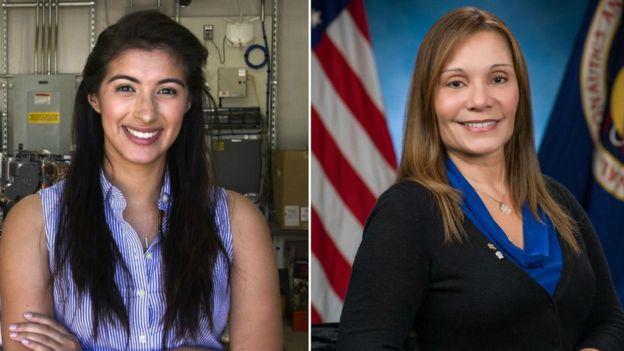 Christina Díaz (izda) y Evelyn Miralles (dcha) trabajan en la NASA.