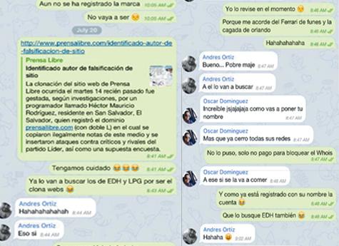 Conversaciones delatan a grupo de piratas informáticos. (Foto Prensa Libre: La Prensa Gráfica.com)