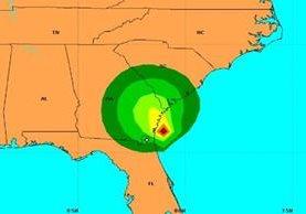"""Ubicación del desplazamiento de la tormenta tropical """"Julia"""" en el Atlántico. (CNH)."""