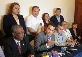 Morales llamo a la ciudadanía a acudir a las urnas. (Foto Álvaro Interiano)