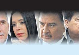 Salvador Gándara, Julia Maldonado, Alfonso Portillo, Baudilio Hichos, aspirantes a cargos públicos (Foto Prensa Libre: Hemeroteca)