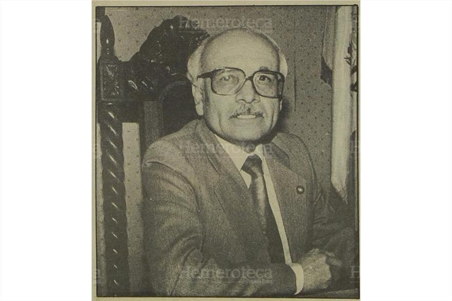 Epaminandas González Dubón, presidente  de la CC unos meses antes de su muerte. ( Foto: Hemeroteca PL)