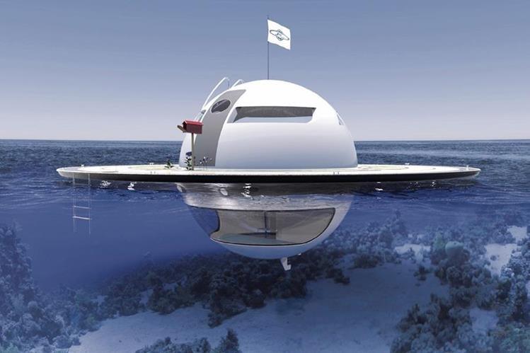 La vivienda flotante puede permanecer estacionaria o desplazarse sin perder estabilidad.