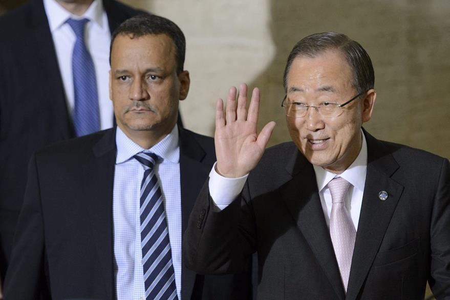 El secretario general de Naciones Unidas, Ban Ki-moon en una actividad pública en Ginebra, Suiza. El diplomático mostró su satisfacción por la encíclica papal que habla sobre el medio ambiente. (Foto Prensa Libre: EFE).