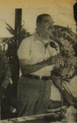 Romeo Lucas García inaugura Aguacapa, en octubre de 1981. (Foto: Hemeroteca PL)