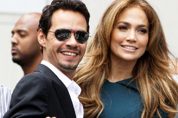 <p>Marc Anthony y Jennifer López.</p>