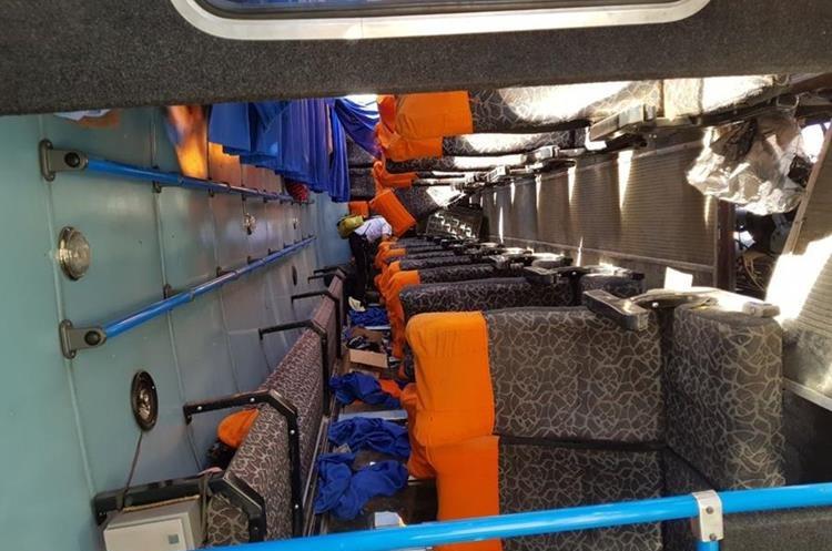El bus se dirigía de Barrillas a la cabecera de Huehuetenango.