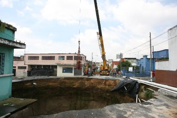 """<p>Hundimiento en Ciudad Nueva, zona 2. (Foto Prensa Libre: Archivo)<br _mce_bogus=""""1""""></p>"""