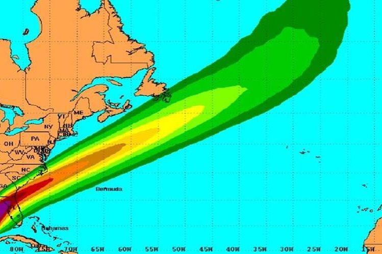 """Ubicación de la tormenta """"Colin"""" avanza por el Golfo de México."""