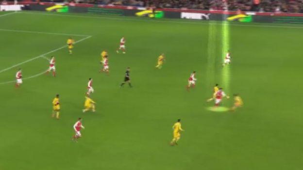 Un sutil toque de Giroud en el centro del campo propició el impecable contragolpe de Arsenal.