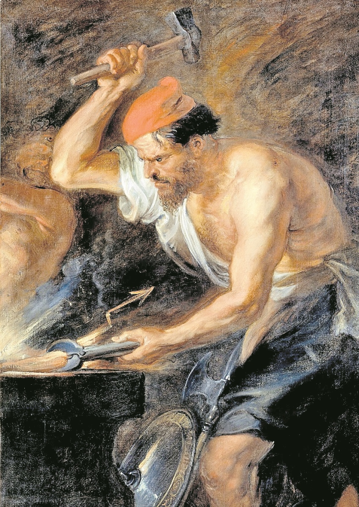 Hefesto  era el dios de la herrería en la mitología griega.  (Foto Prensa Libre: Hemeroteca PL)