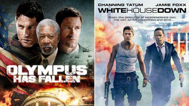 """""""Ataque a la Casa Blanca"""" y """"La caída de la Casa Blanca"""" fueron estrenadas con dos meses de diferencia en 2013. COLUMBIA/MILLENNIUM FILMS"""