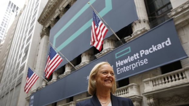 Meg Whitman, la jefa de HPE, dice que las empresas necesitan un líder para tomar decisiones.HEWLETT PACKARD ENTERPRISE