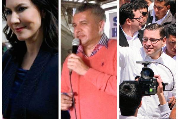 Fotografía muestra a Zury Ríos, Javier Hernández y Manuel Baldizón, durante actividades político-partidistas pese a la prohibición de ley. (Foto Prensa Libre: Hemeroteca PL)