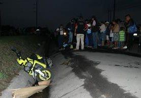 Maria del Carmen Villatoro Galindo murió baleada en la ruta de Escuintla a Antigua Guatemala. Foto Prensa Libre: Enrique Paredes.