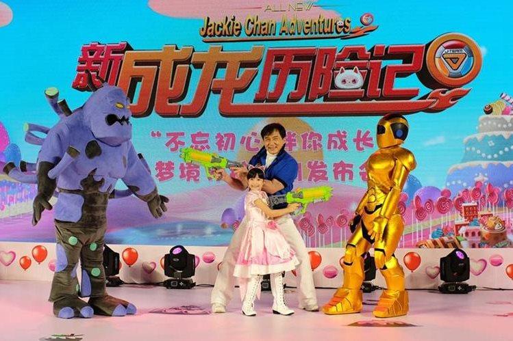 El actor hongkonés Jackie Chan presenta su nueva serie de dibujos animados en 3D. (Foto Prensa Libre, tomada de cnbc.com)