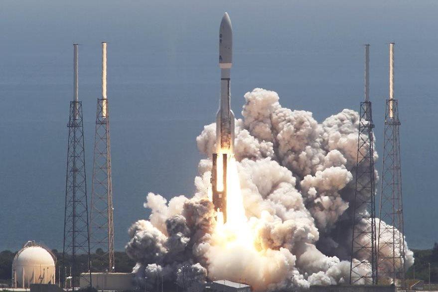 """Fotografía del 5 de agosto del 2011 cuando """"Juno"""" despegó de la base de Cabo Cañaveral de la Nasa. (Foto Prensa Libre: AP)."""