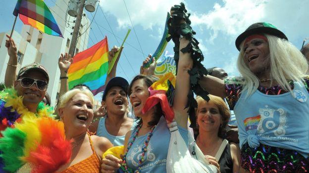 Mariela Castro ha sido una de las principales promotoras de los derechos de la comunidad LGBT en la isla. GETTY IMAGES