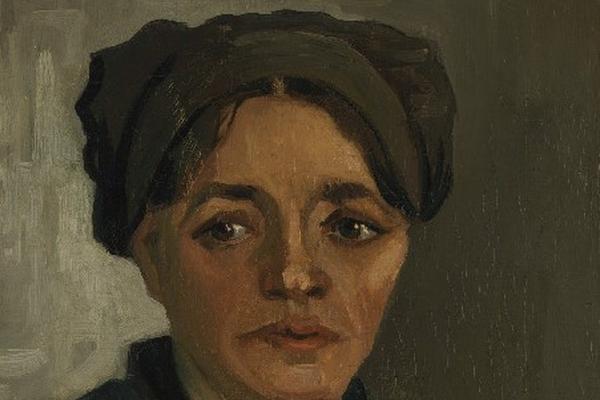 CABEZA DE campesina es una de las primeras obras de  Van Gogh.