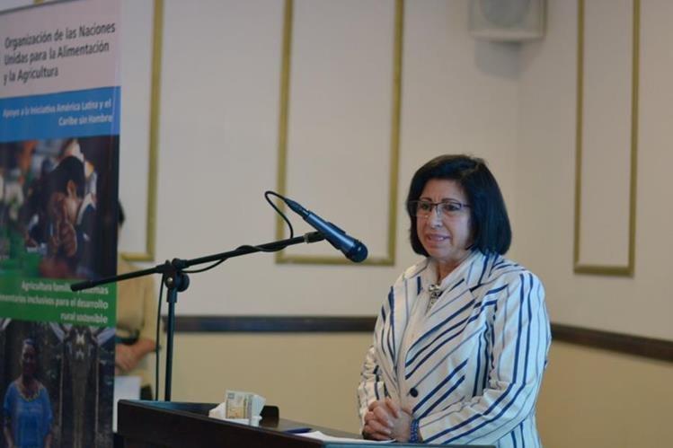 Rosa Elvira Pacheco Mangandi durante una actividad pública en diciembre de 2016. (Foto Prensa Libre: FAO Guatemala).