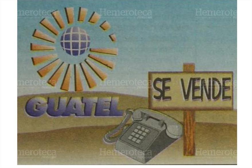 03/02/1997 Fotoarte explicando la venta  de la telefónica  Guatel . (Foto: Hemeroteca PL)