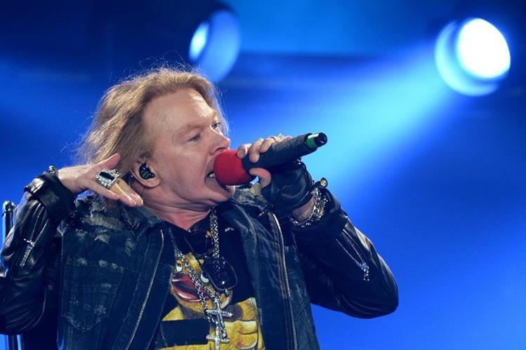 Axl Rose es el cantante estrella de Guns N' Roses. (Foto Prensa Libre: AFP)