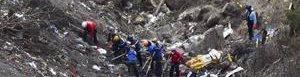 Sitio de la tragedia en Los Alpes