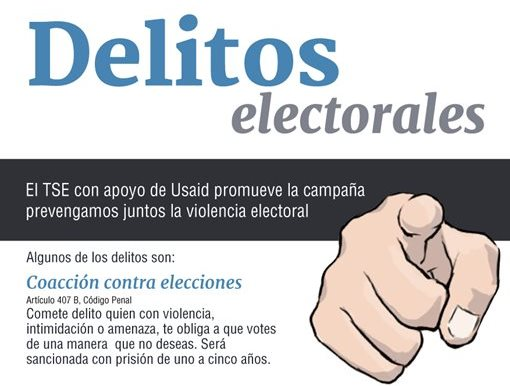 El TSE busca reducir la violencia electoral en el actual proceso. (Foto Prensa Libre)
