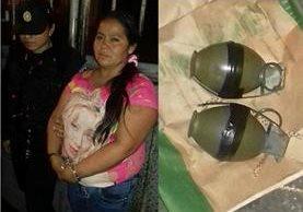 Vilma Aracely Vargas Quiñonez, 37, detenida en zona 9. (Fotos: Prensa Libre: PNC).