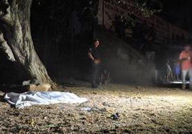 Campo de fútbol donde fue asesinado Miguel Menéndez Chachaguá, 16, en la zona 4 de Chiquimula. Foto Prensa Libre: Mario Morales.