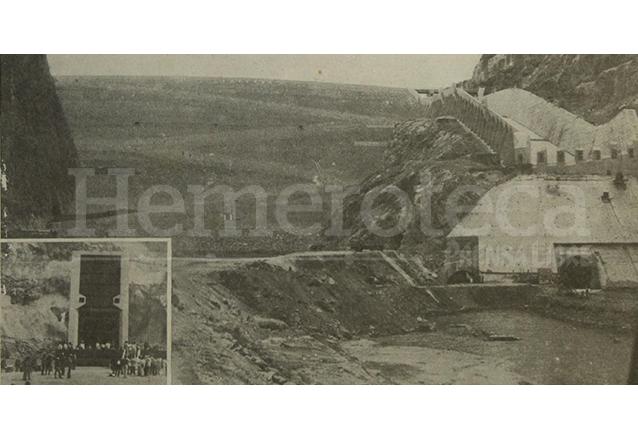 Detalle de la portada de Prensa Libre del 26 de enero de 1983 donde aparece la presa finalizada y que se empezó a llenar con las aguas del río Chixoy. (Foto: Hemeroteca PL)