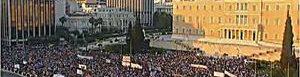 Manifestación en Grecia.