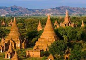 Templos en Bagan,en Birmania.