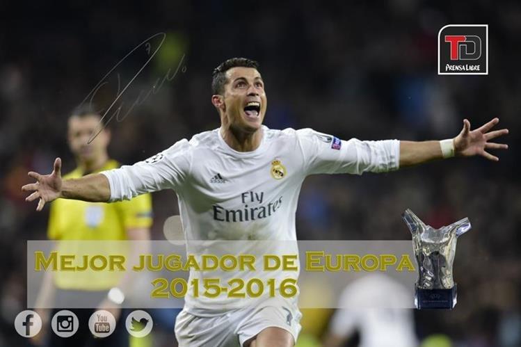 Cristiano Ronaldo ganador del Mejor jugador de Europa. (Foto Prensa Libre: Hemeroteca PL)