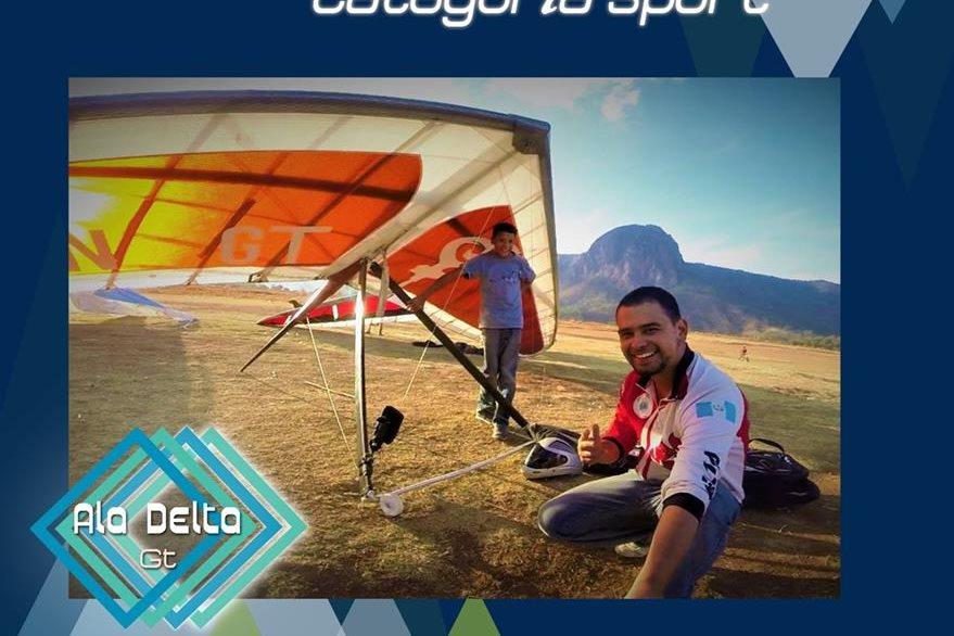 En reciente competencia en el Peñón Classic Race México Carlos Alvarado obtuvo el primer lugar. (Foto Prensa Libre: Alas Delta)