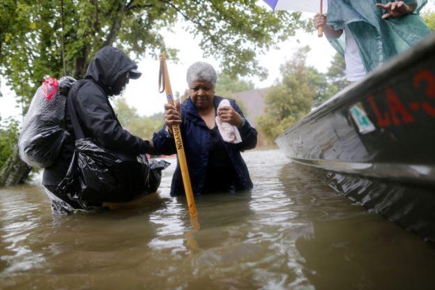 Beaumont se convirtió en uno de los epicentros de las inundaciones. REUTERS