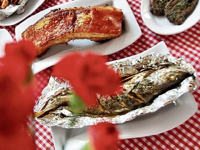 Cinco opciones de carne se pueden solicitar con el método al cilindro.