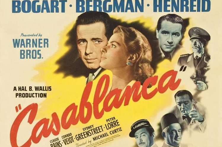 El único póster de la película Casablanca fue vendido por US$478 mil, lo que iguala la mayor la mayor suma de dinero por un cartel de cine. (Foto Prensa Libre: Wiriko).