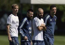 Jugadores de la selección de Argentina volvieron a los entrenamientos.