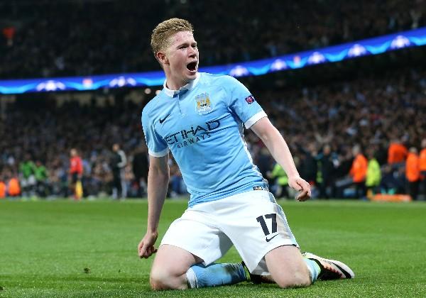 El belga Kevin de Bruyne anotó el gol del triunfo para el Manchester City sobre el País SG. (Foto Prensa Libre: AP)