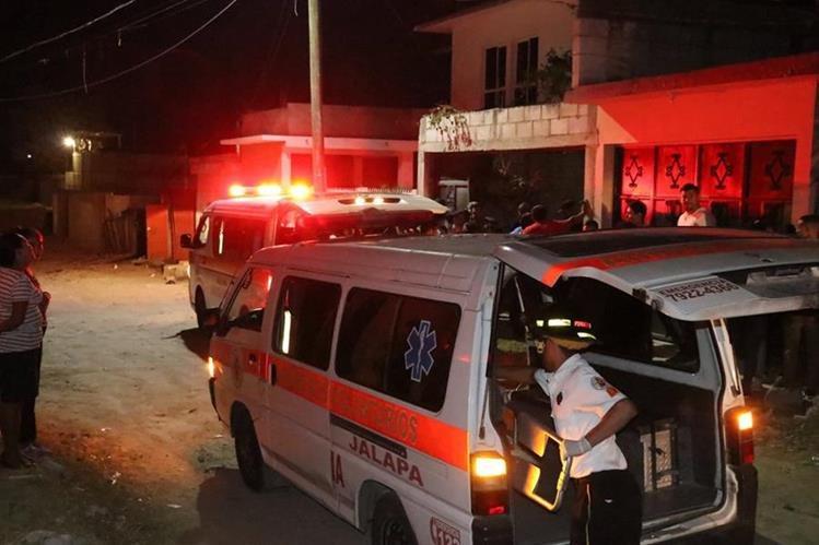 Sector donde se registró el ataque en la cabecera de Jalapa. (Foto Prensa Libre: Hugo Oliva).