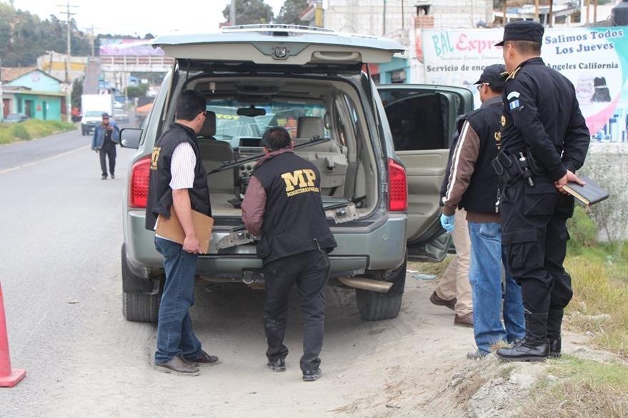 El vehículo en el que se desplazaba Walter Sabino García fue localizado el martes último en Totonicapán. (Foto Prensa Libre: Édgar Domínguez).