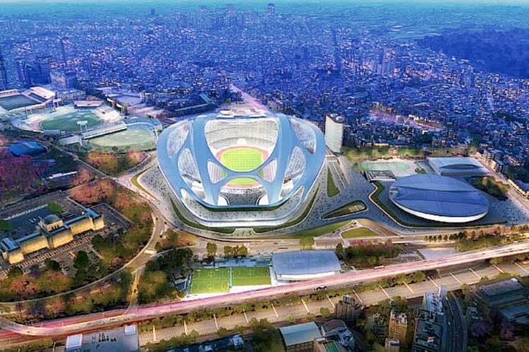 Este es el modelo del estadio olímpico de Tokio que se construirá para los juegos del 2020. (Foto Prensa Libre: Comité Organizador)