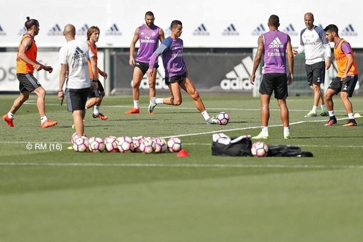 Real Madrid se entrenó con normalidad y piensa en el debut en la Liga. (Foto Real Madrid).