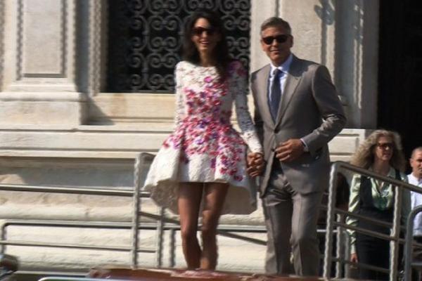 <p>El famoso actor estadounidense George Clooney se casó con la abodaga Amal Alamuddin. (Foto Prensa Libre: AFP)<br></p>