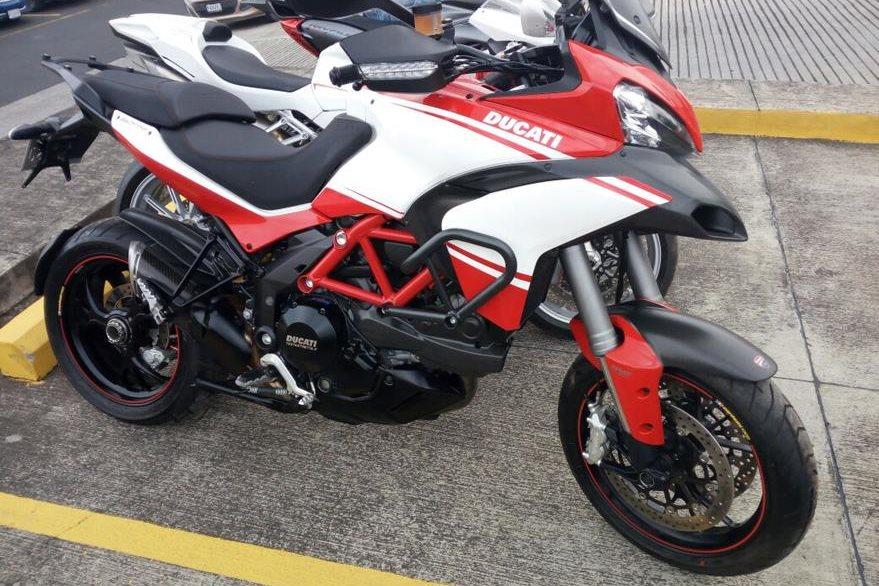 Motocicleta Ducati Multistrada valorada en US$36 mil fue inmovilizada a Monzón.(Foto Prensa Libre: MP)
