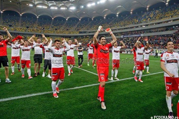 Jaime Penedo celebró el título de la Copa de la Liga con el Dinamo de Bucarest en Rumania. (Foto Prensa Libre: Dinamo de Bucarest)