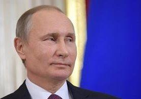 El presidente ruso Vladimir Putin durante una conferencia de prensa. (Foto Prensa Libre: EFE)