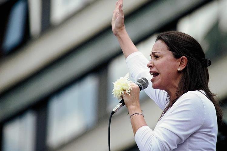 La líder de la oposición venezolana María Corina Machado. (Foto prensa LIbre:AFP).